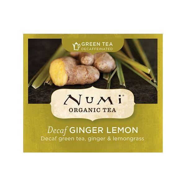 Chá Verde Orgânico Descafeinado Limão e Gengibre Numi 1