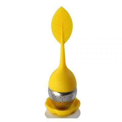 Infusor de Chá Folha Compacto Amarelo 6