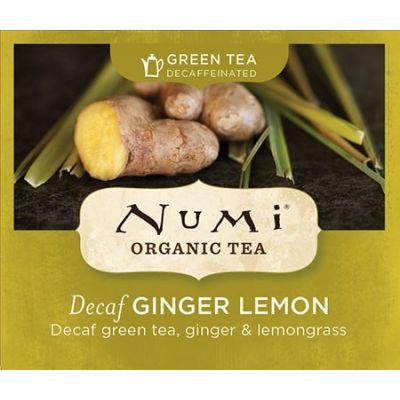 Chá Verde Orgânico Descafeinado Limão e Gengibre Numi