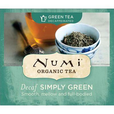 Chá Verde Orgânico Descafeinado Simply Green Numi